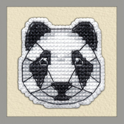 Borduurpakket Badge Panda - Oven
