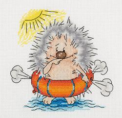 Borduurpakket Swimming Hedgehog - PANNA