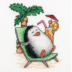 Borduurpakket Penguin on Holiday - PANNA