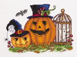 Borduurpakket Scary Pumpkins - PANNA