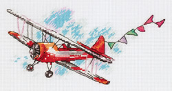 Borduurpakket Biplane - PANNA