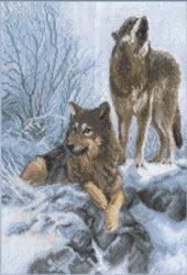 Borduurpakket Howling Wolf - PANNA