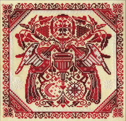 Borduurpakket Redwork - PANNA