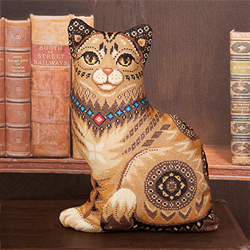 Borduurpakket Cat Cushion - PANNA