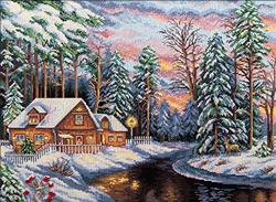 Borduurpakket Winter Landscape - PANNA