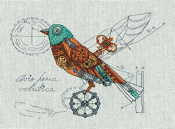 Borduurpakket Clockwork Bird - PANNA