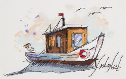 Borduurpakket Fishing Boat - PANNA