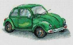 Borduurpakket Green Car - PANNA