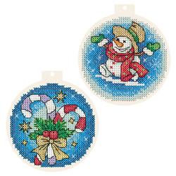 Borduurpakket Christmas Tree Baubles - PANNA
