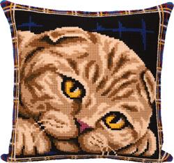 Borduurpakket Scottish Fold Cat - PANNA
