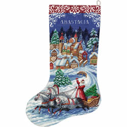 Borduurpakket Fairytale Christmas Stocking - PANNA