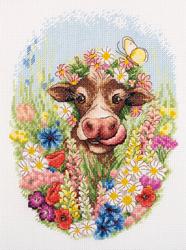 Borduurpakket Sunnythe Cow - PANNA
