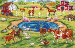 Borduurpakket Morning on the Farm - PANNA