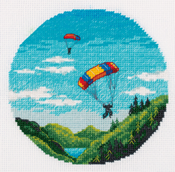 Borduurpakket Skydiving - PANNA