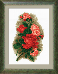 Voorbedrukt borduurpakket Red Roses - PC-Studia