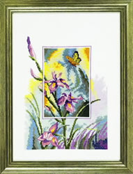 Borduurpakket Iris with butterfly - Permin