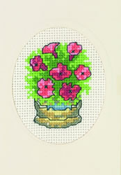 Borduurpakket Bucket with flowers - Permin