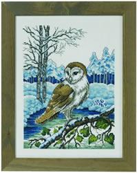 Borduurpakket Barn owl - Permin