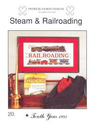 Borduurpatroon Steam & Railroading - Patricia Gaskin
