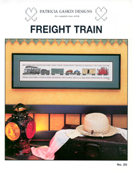 Borduurpatroon Freight Train - Patricia Gaskin