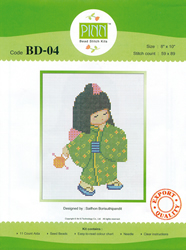 Borduurpakket Japanese Girl 4 - Pinn