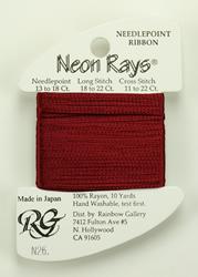 Neon Rays Burgundy - Rainbow Gallery
