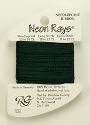 Neon Rays Dark Forest Green - Rainbow Gallery