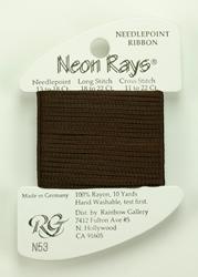 Neon Rays Dark Brown - Rainbow Gallery