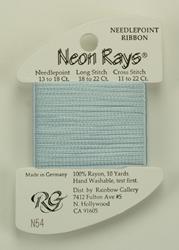 Neon Rays Pale Blue - Rainbow Gallery