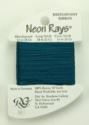 Neon Rays Dark Teal - Rainbow Gallery