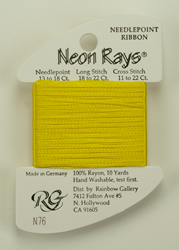 Neon Rays Bright Yellow - Rainbow Gallery