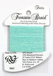 Petite Treasure Braid Pearl Seafoam - Rainbow Gallery