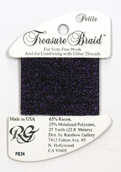 Petite Treasure Braid Deep Purple - Rainbow Gallery