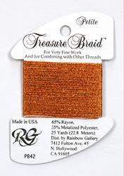 Petite Treasure Braid Autumn Orange - Rainbow Gallery