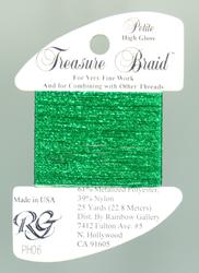 Petite Treasure Braid High Gloss Christmas Green - Rainbow Gallery