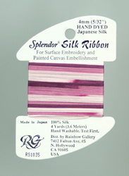 Splendor Silk Ribbon Medium Plum - Rainbow Gallery