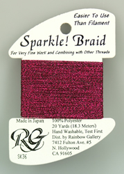 Sparkle Braid Dark Fuchsia - Rainbow Gallery