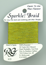 Sparkle Braid Yellow Green - Rainbow Gallery