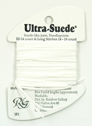 Ultra Suede White - Rainbow Gallery