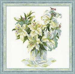 Borduurpakket White Lillies - RIOLIS