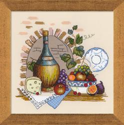 Borduurpakket Still Life with Cheese - RIOLIS