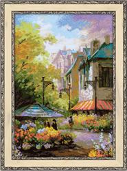Borduurpakket Flower Street - RIOLIS