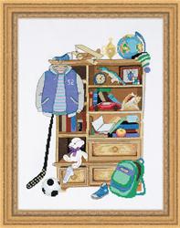 Borduurpakket Boy's Locker - RIOLIS