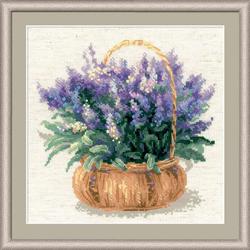 Borduurpakket French Lavender - RIOLIS