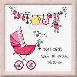 Borduurpakket It's a Girl! - RIOLIS