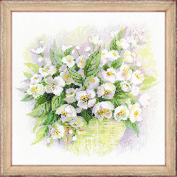Borduurpakket Watercolour Jasmine - RIOLIS