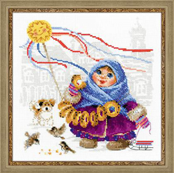 Cross Stitch Kit Bread Seller - RIOLIS