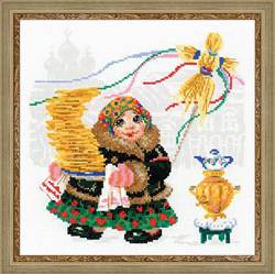 Cross Stitch Kit Pancake Seller - RIOLIS