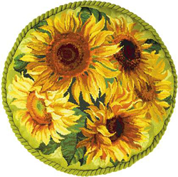 Cross Stitch Kit Sunflowers Cushion - RIOLIS