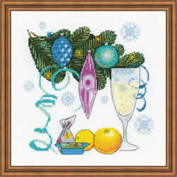 Cross stitch kit Happy New Year! - RIOLIS